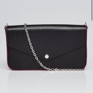 Louis Vuitton epi black pink felicie